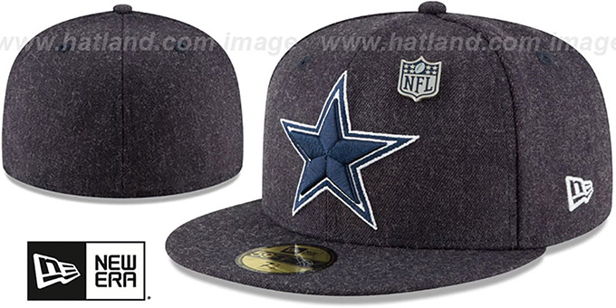 28c41afb Dallas Cowboys HEATHERED-PIN Navy Fitted Hat by New Era