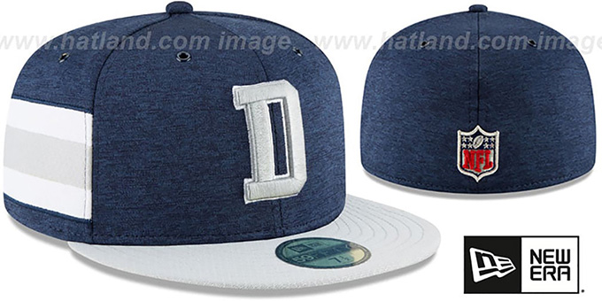 Cowboys 'HOME ONFIELD STADIUM' Navy-Grey Fitted Hat by New Era