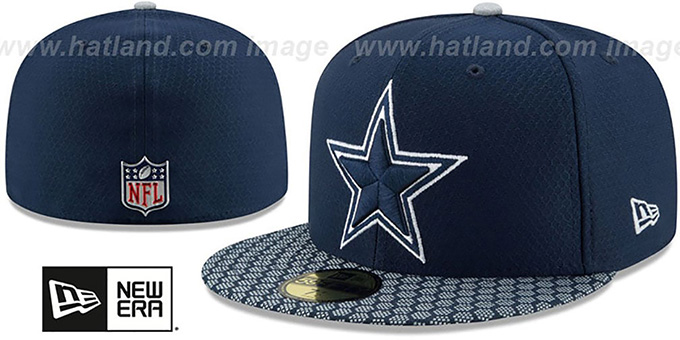Cowboys 'HONEYCOMB STADIUM' Navy Fitted Hat by New Era
