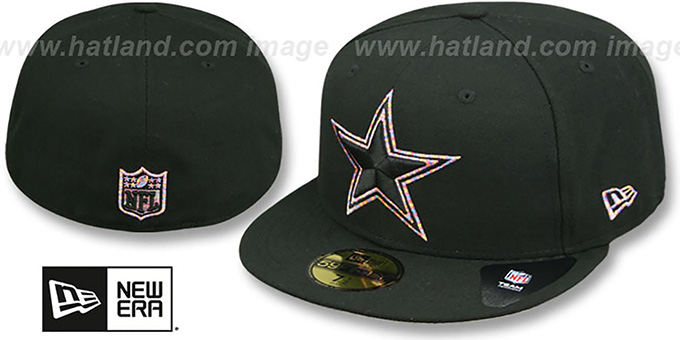 Dallas Cowboys LOGO-CRAZE Black Fitted Hat by New Era 970352bca