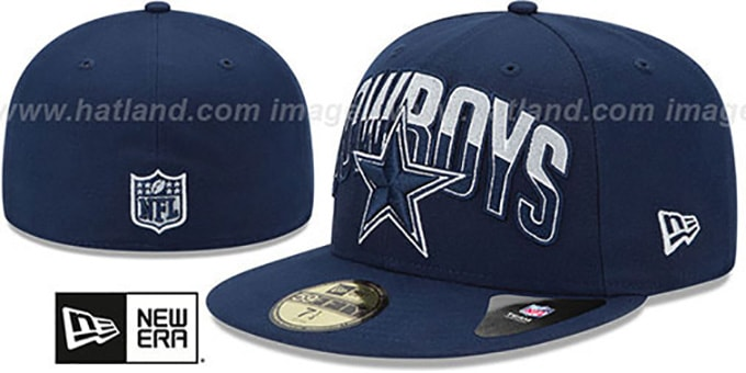 Cowboys 'NFL 2013 DRAFT' Navy 59FIFTY Fitted Hat by New Era : pictured without stickers that these products are shipped with