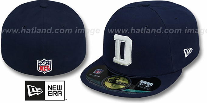Dallas Cowboys NFL STADIUM D Navy Fitted Hat by New Era 0ada012811c