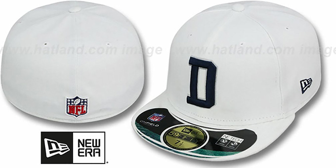 9671e2922654e ... Cowboys  NFL STADIUM  D White Fitted Hat by New Era ...