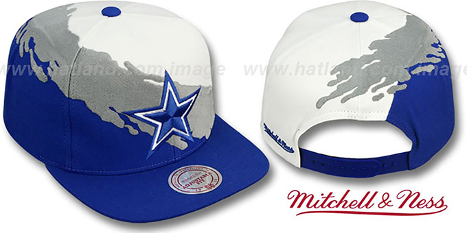 ... ireland cowboys paintbrush snapback white grey royal hat by mitchell  and ness . baaef2021