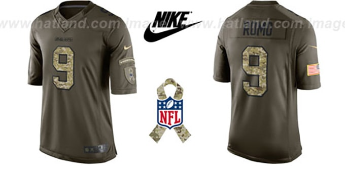 Cowboys 'ROMO SALUTE TO SERVICE' Jersey by Nike : pictured without stickers that these products are shipped with