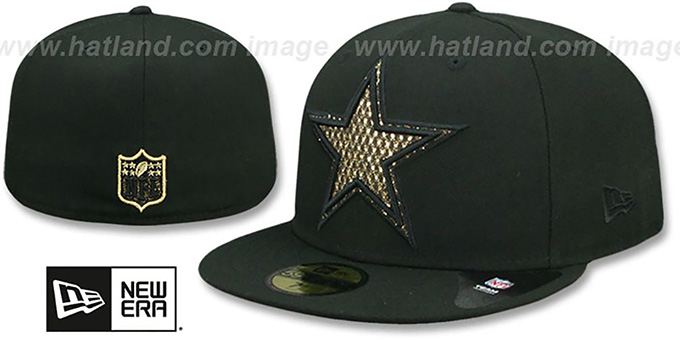 Cowboys 'SHIMMER-XL' Black Fitted Hat by New Era