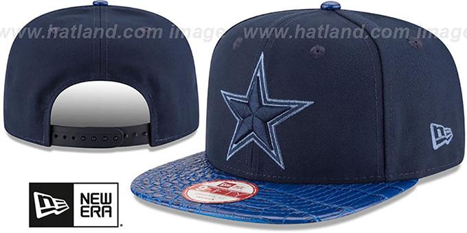 242633130 Dallas Cowboys SNAKESKINZ SNAPBACK Navy-Royal Hat by New Era