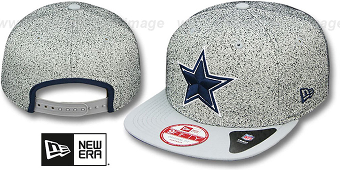 Cowboys 'SPECKLED SNAPBACK' Grey-grey Hat by New Era : pictured without stickers that these products are shipped with