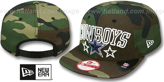 Cowboys 'STAR-UP CITY SNAPBACK' Army Hat by New Era : pictured without stickers that these products are shipped with