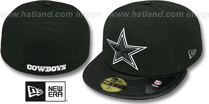 Cowboys 'STAR-VIZE' Black Fitted Hat by New Era : pictured without stickers that these products are shipped with