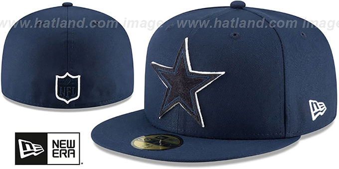 Cowboys 'SUEDE POP' Navy Fitted Hat by New Era