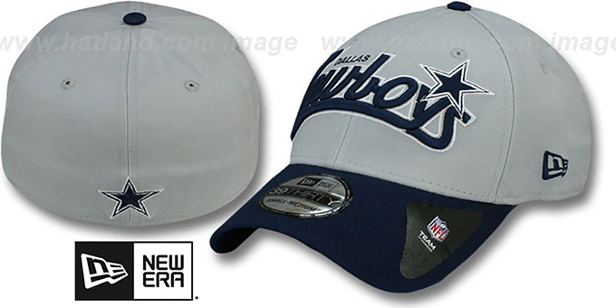 Cowboys 'TAILSWOOP FLEX' Hat by New Era : pictured without stickers that these products are shipped with