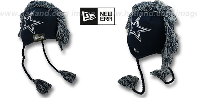 Dallas Cowboys TASSLEHAWK TRAPPER Navy Knit Hat by New Era 361384d297a
