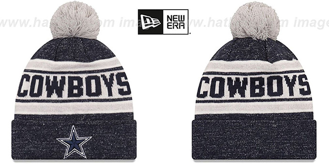 Cowboys 'TOASTY COVER' Navy Knit Beanie Hat by New Era