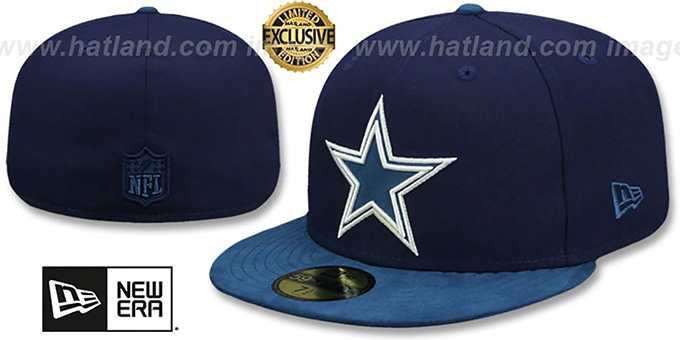 Cowboys 'TONAL-CHOICE' Navy Fitted Hat by New Era