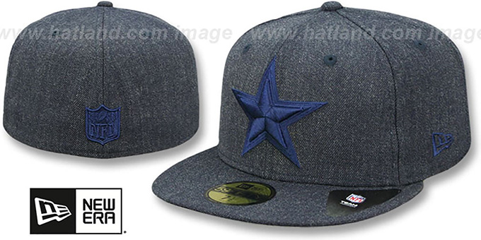 eba43672ef3 Dallas Cowboys TOTAL TONE Heather Navy Fitted Hat by New Era