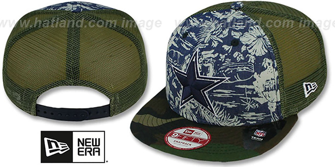 Cowboys 'TROPICAMO-MESH SNAPBACK' Hat by New Era : pictured without stickers that these products are shipped with