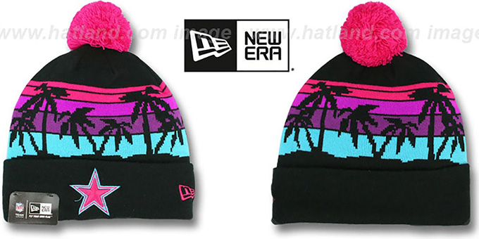 Cowboys 'WINTER TROPICS' VICE Multi Knit Beanie Hat by New Era : pictured without stickers that these products are shipped with