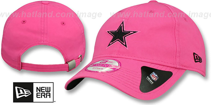 Cowboys 'WOMENS PREFERRED PICK' Pink Strapback Hat by New Era : pictured without stickers that these products are shipped with