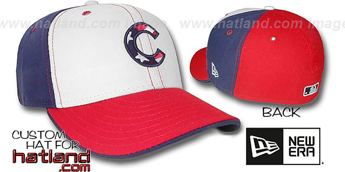 Cubs  'STARS and STRIPES PINWHEEL' Fitted Hat by New Era