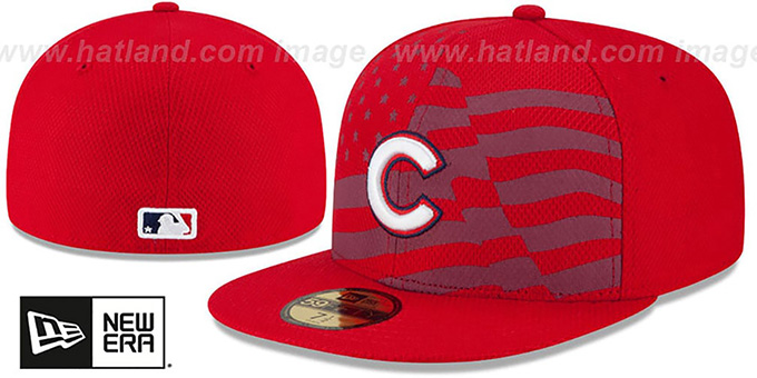 Cubs '2015 JULY 4TH STARS N STRIPES' Hat by New Era : pictured without stickers that these products are shipped with