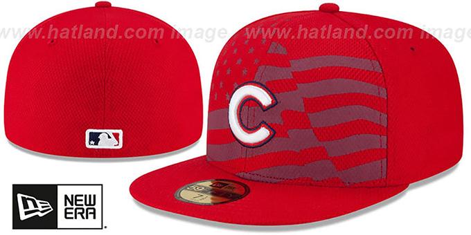 8c8f0606edd Chicago Cubs 2015 JULY 4TH STARS N STRIPES Hat by New Era