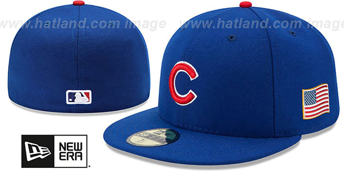 Cubs '2015 STARS-N-STRIPES 911 GAME' Hat by New Era : pictured without stickers that these products are shipped with