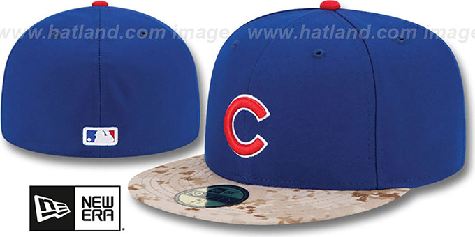 Cubs '2015 STARS N STRIPES' Fitted Hat by New Era : pictured without stickers that these products are shipped with