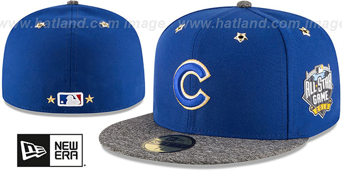Cubs '2016 MLB ALL-STAR GAME' Fitted Hat by New Era : pictured without stickers that these products are shipped with