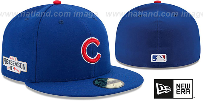 Cubs 2016 'PLAYOFF GAME' Hat by New Era : pictured without stickers that these products are shipped with
