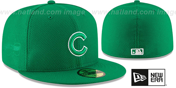 Cubs '2016 ST PATRICKS DAY' Hat by New Era : pictured without stickers that these products are shipped with