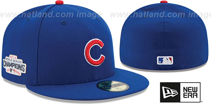 Cubs 2016 WORLD SERIES CHAMPIONS Fitted Hat by New Era c4944caa3b9