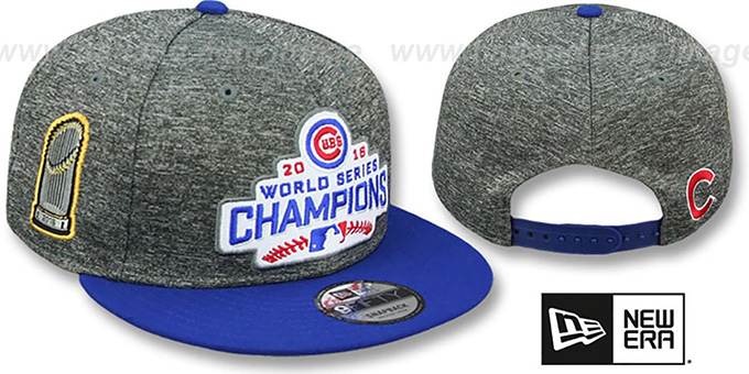 Cubs  2016 WORLD SERIES CHAMPS PATCH SNAPBACK  Grey-Royal Hat by ... 6278f0e2d49