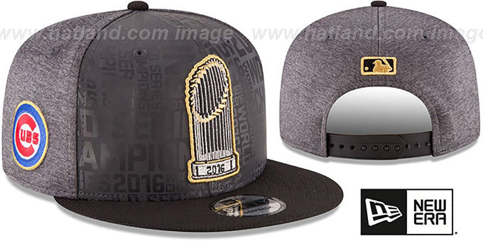 Cubs  2016 WORLD SERIES TROPHY SNAPBACK  Grey-Black Hat by ... d19264e6f10