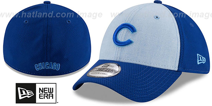 Cubs '2018 FATHERS DAY FLEX' Sky-Royal Hat by New Era