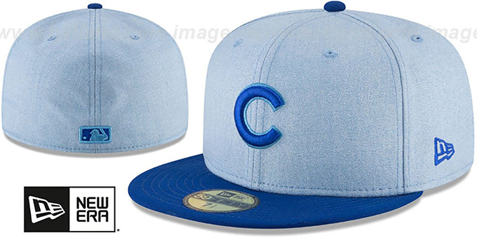 88084bc7f64f3 Cubs  2018 FATHERS DAY  Sky-Royal Fitted Hat by New Era