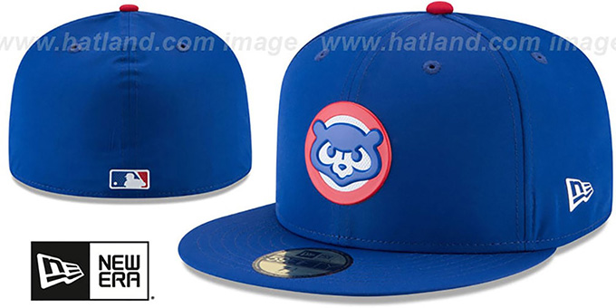 Cubs '2018 PROLIGHT-BP' Royal Fitted Hat by New Era : pictured without stickers that these products are shipped with