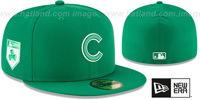 Cubs '2018 ST PATRICKS DAY' Hat by New Era : pictured without stickers that these products are shipped with