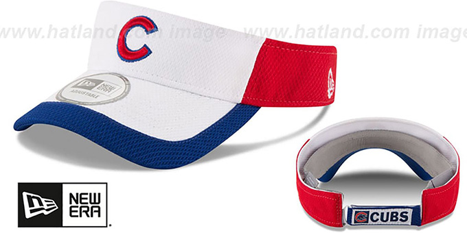 Cubs 'COLOR-BLOCK VISOR' by New Era : pictured without stickers that these products are shipped with