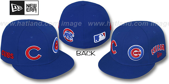 Cubs 'EVOLUTION' Fitted Hat by New Era - royal : pictured without stickers that these products are shipped with