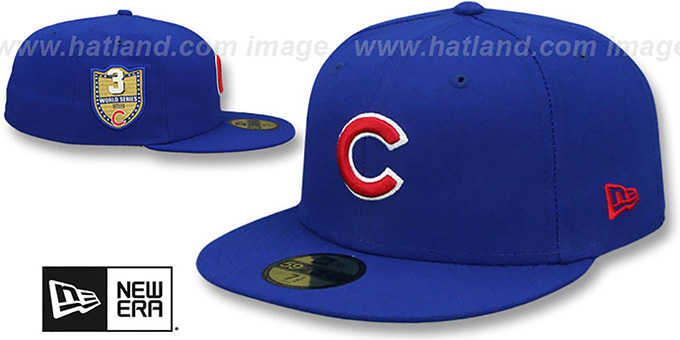 9498c1a1acd Chicago Cubs GOLDEN-HIT Royal Fitted Hat by New Era