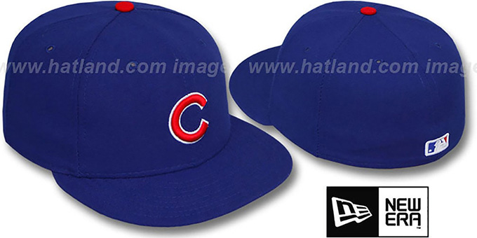 Cubs 'PERFORMANCE GAME' Hat by New Era : pictured without stickers that these products are shipped with