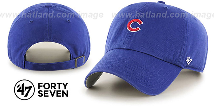 Cubs 'POLO STRAPBACK' Royal Hat by Twins 47 Brand : pictured without stickers that these products are shipped with