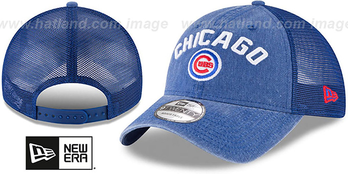 3ef6b9a558d Cubs  RUGGED-TEAM TRUCKER SNAPBACK  Royal Hat by New Era