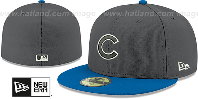 Cubs 'SHADER MELT-2' Grey-Royal Fitted Hat by New Era : pictured without stickers that these products are shipped with
