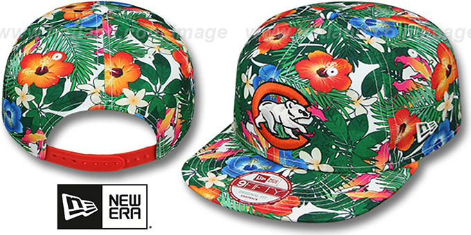 Cubs 'SUNSHINE BLOOM SNAPBACK' Hat by New Era : pictured without stickers that these products are shipped with