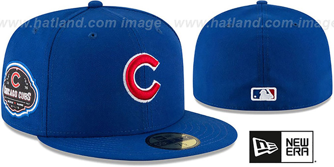 Cubs 'TEAM-SUPERB' Royal Fitted Hat by New Era : pictured without stickers that these products are shipped with