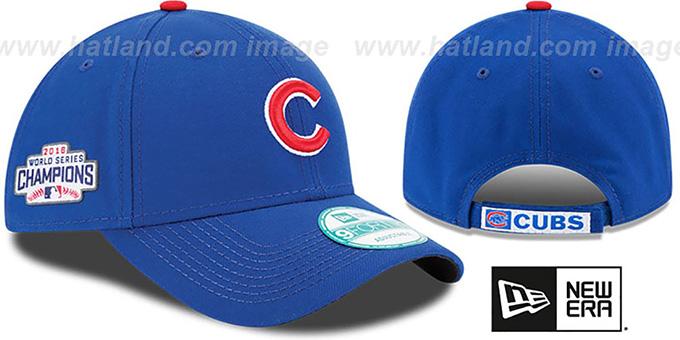 908e8cb48de Cubs  THE-LEAGUE 2016 WORLD SERIES CHAMPS STRAPBACK  Hat by New Era
