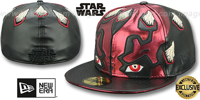 Darth Maul 'CHARACTER FACE' Fitted Hat by New Era : pictured without stickers that these products are shipped with