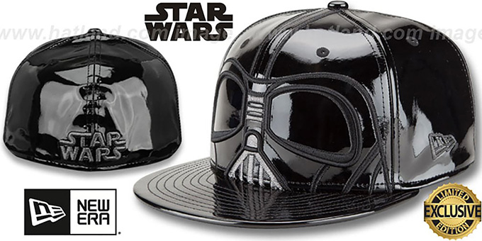 Darth Vader 'CHARACTER FACE' Fitted Hat by New Era : pictured without stickers that these products are shipped with